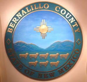 bernalillo county, NM seal in fiberglass