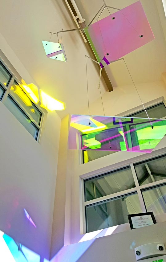 Dichroic Panels in afternoon