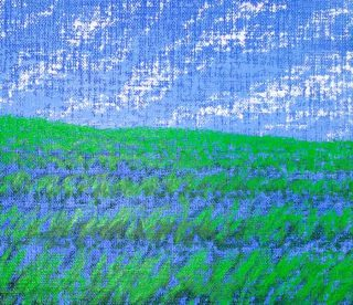 Doug Czor, untitled painting, grassy field
