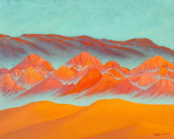 Doug Czor, painting, mountains